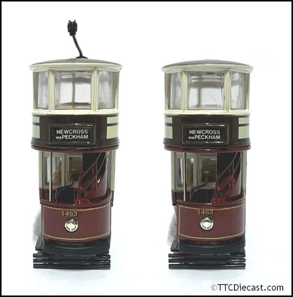 CORGI 97268 Double Deck Tram, London County Council , 1/72 Scale *PRE OWNED*